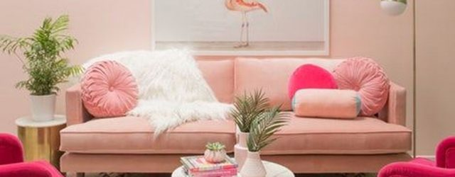 Beautiful Pink Living Room Decor Ideas 18