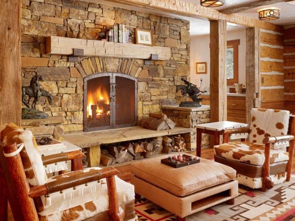 Stunning Lodge Living Room Decor Ideas 02