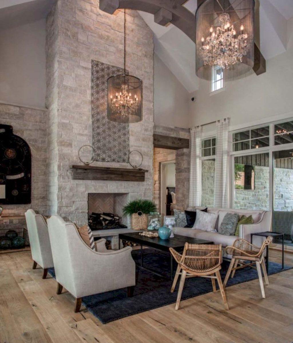 Stunning Lodge Living Room Decor Ideas 16