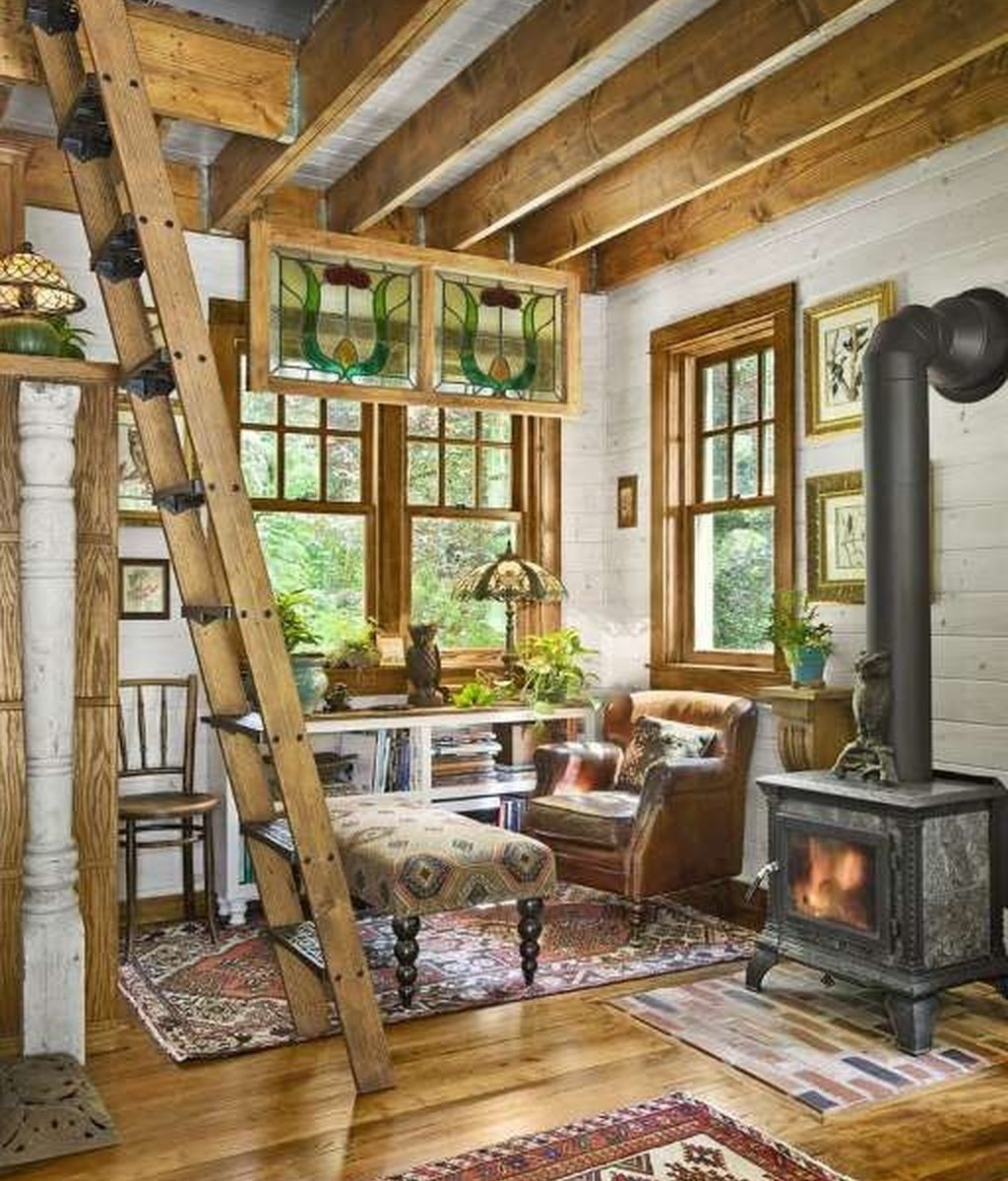 Stunning Lodge Living Room Decor Ideas 24