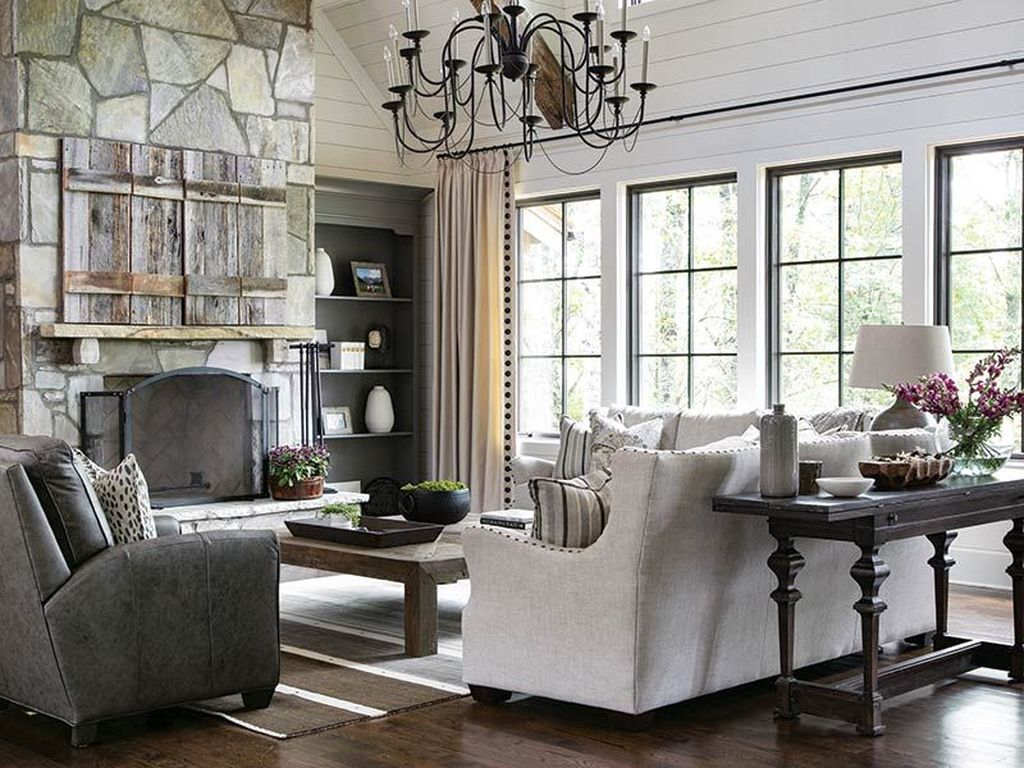 Stunning Lodge Living Room Decor Ideas 27