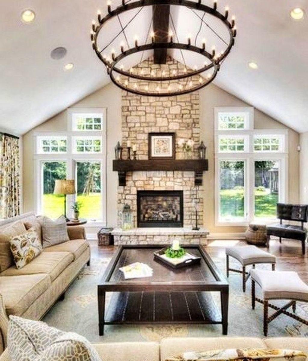 Stunning Lodge Living Room Decor Ideas 28