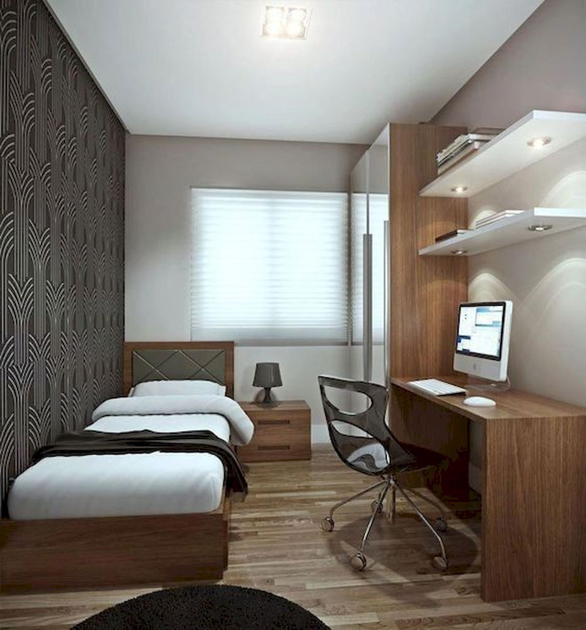 Awesome Modern Small Bedroom Design And Decor Ideas 13