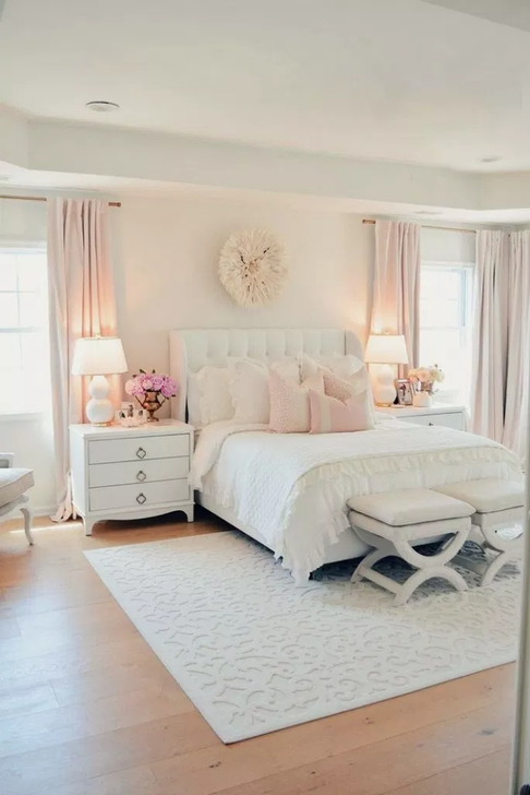 Beautiful White Bedroom Design And Decor Ideas 29