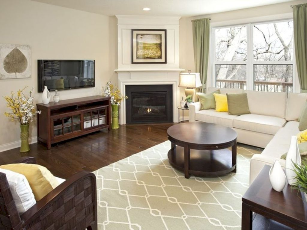 Beautiful Corner Fireplace Design Ideas For Your Living Room 37