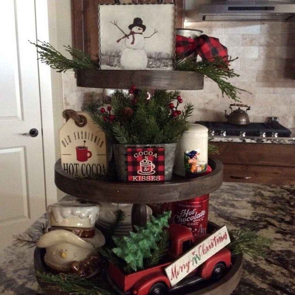 Popular Christmas Decor Ideas For Kitchen Island 25