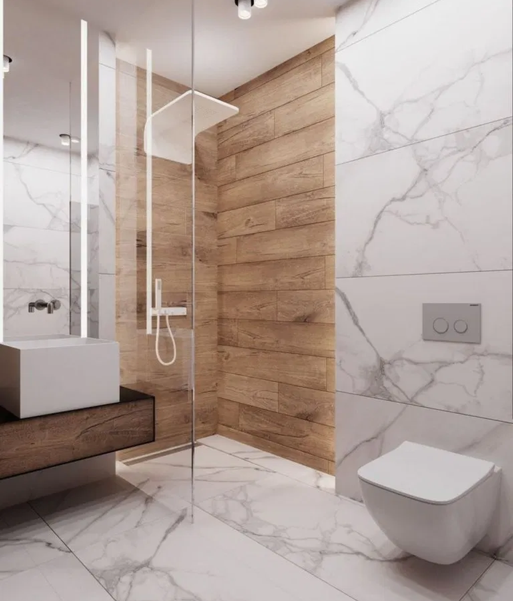 Fascinating Minimalist Bathroom Decoration Ideas 21