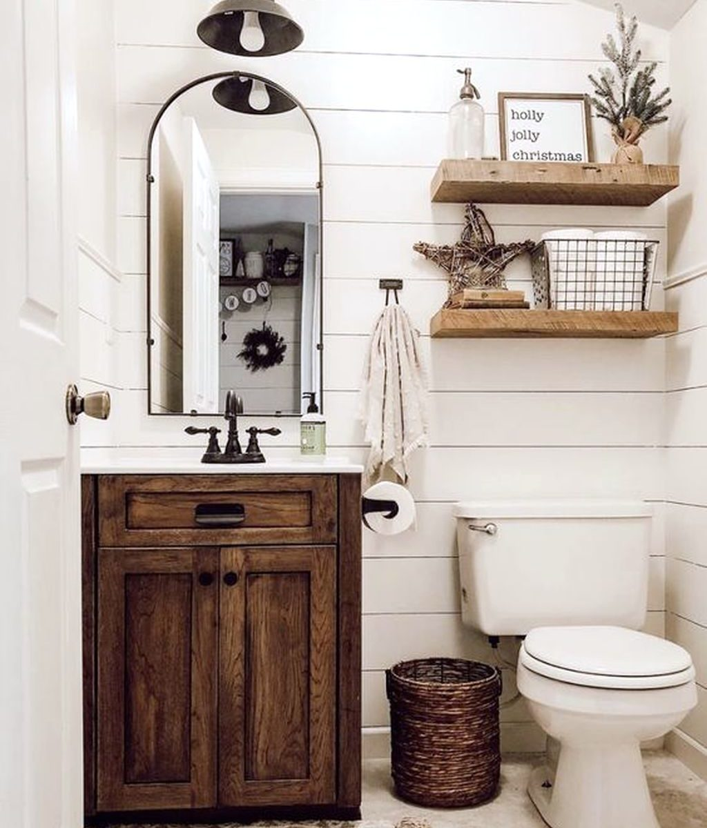 Fabulous Rustic Bathroom Vanities Design Ideas 02