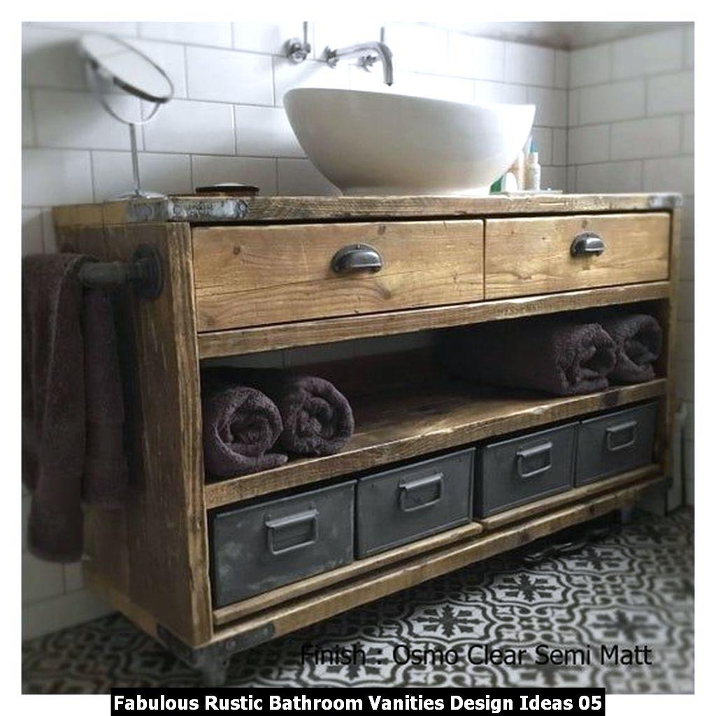 Fabulous Rustic Bathroom Vanities Design Ideas 05