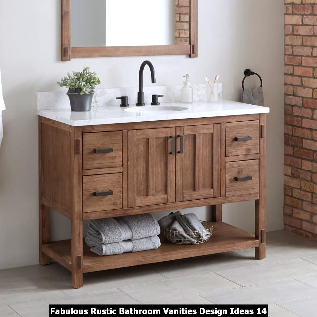Fabulous Rustic Bathroom Vanities Design Ideas 14