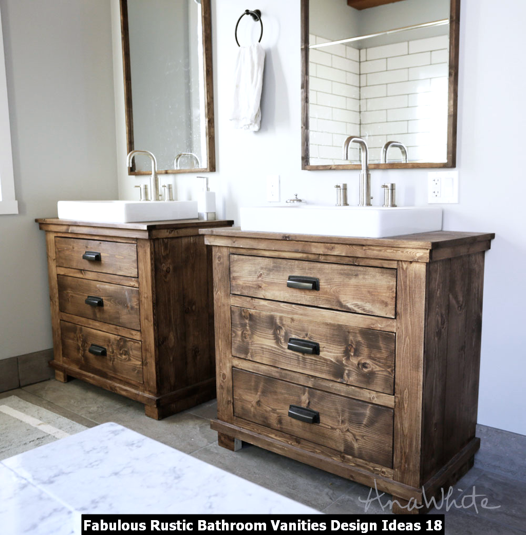 Fabulous Rustic Bathroom Vanities Design Ideas 18
