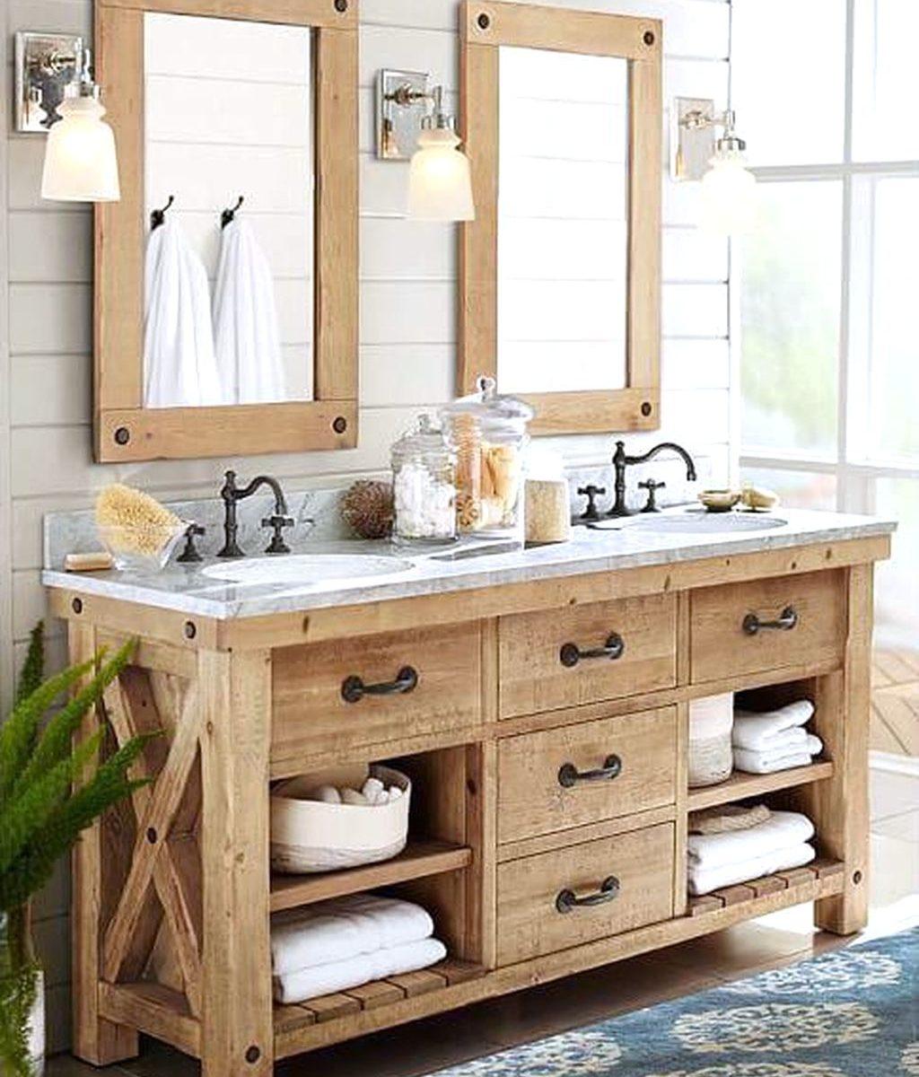 Fabulous Rustic Bathroom Vanities Design Ideas 23