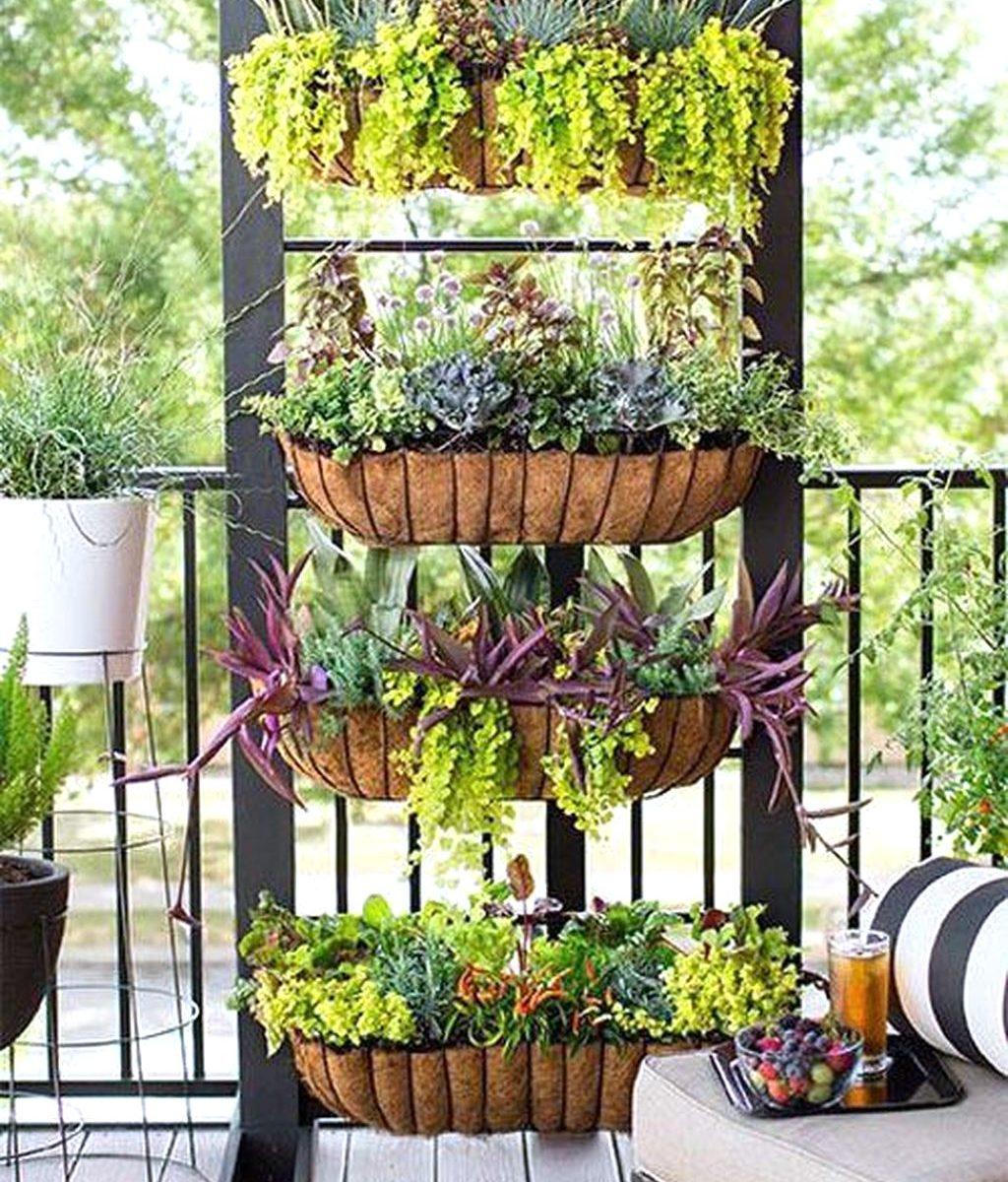 Stunning Apartment Balcony Garden Ideas Look Beautiful 03