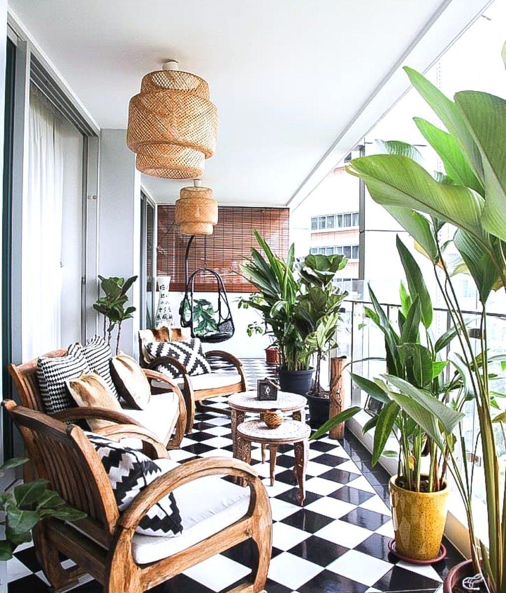 Stunning Apartment Balcony Garden Ideas Look Beautiful 26