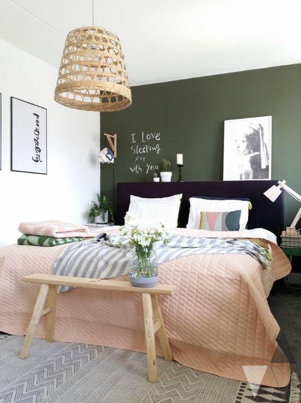 Green Wall Bedroom
