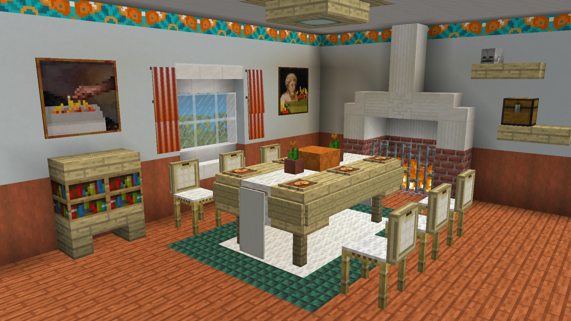 Minecraft Dining Room