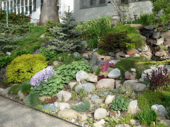 Sloped Rock Garden Ideas
