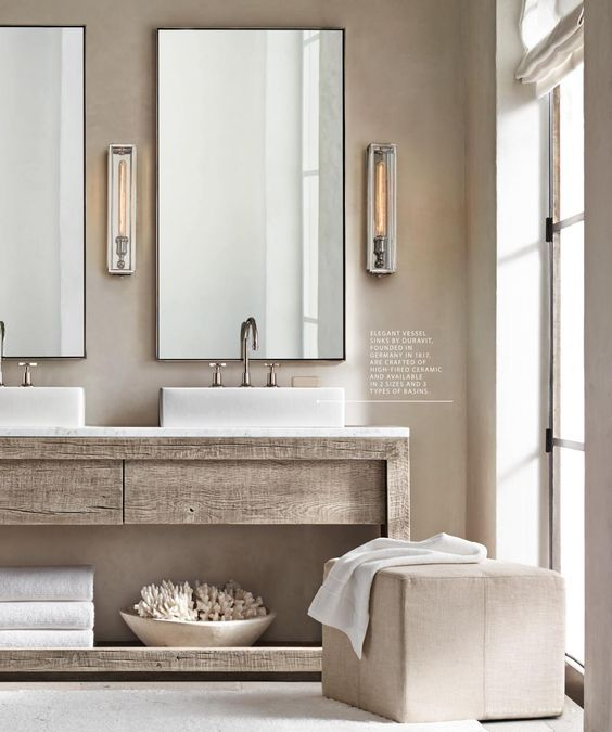 Restoration Hardware Bathroom Vanity