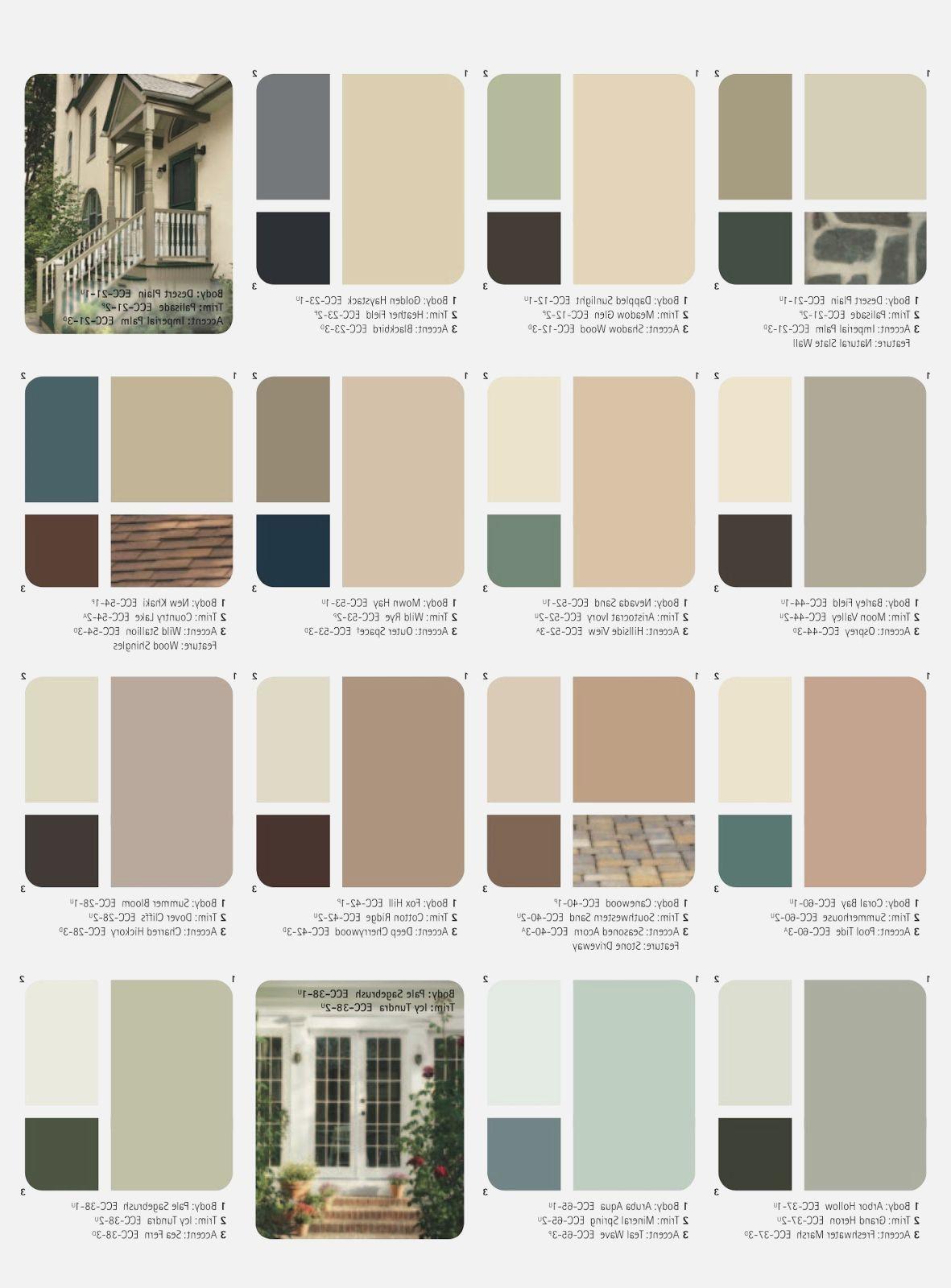 Exterior Paint Color Combinations Images