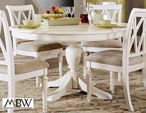 White Round Kitchen Table