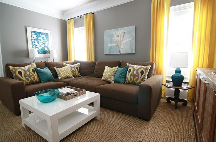 Grey And Brown Living Room