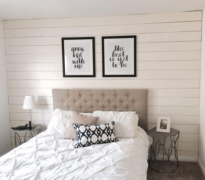 Shiplap Bedroom Wall