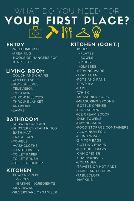 Things You Need For An Apartment