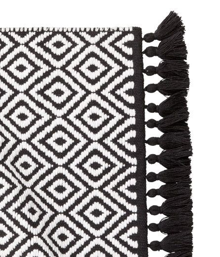 Black And White Bathroom Rug