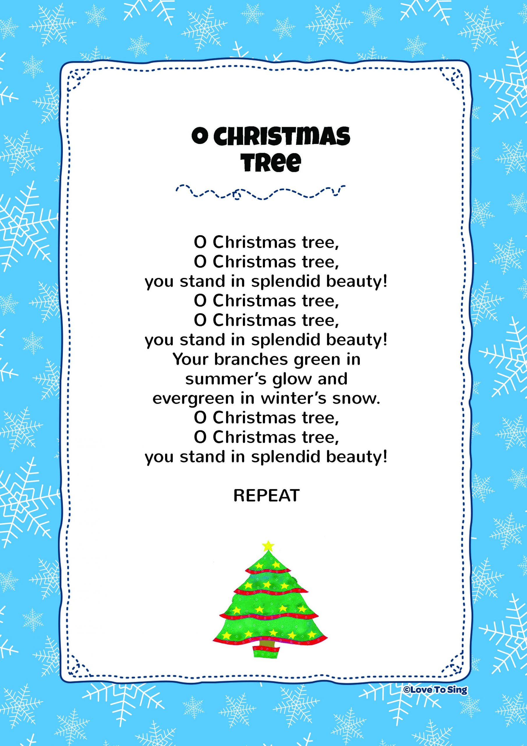 Oh Christmas Tree Lyrics