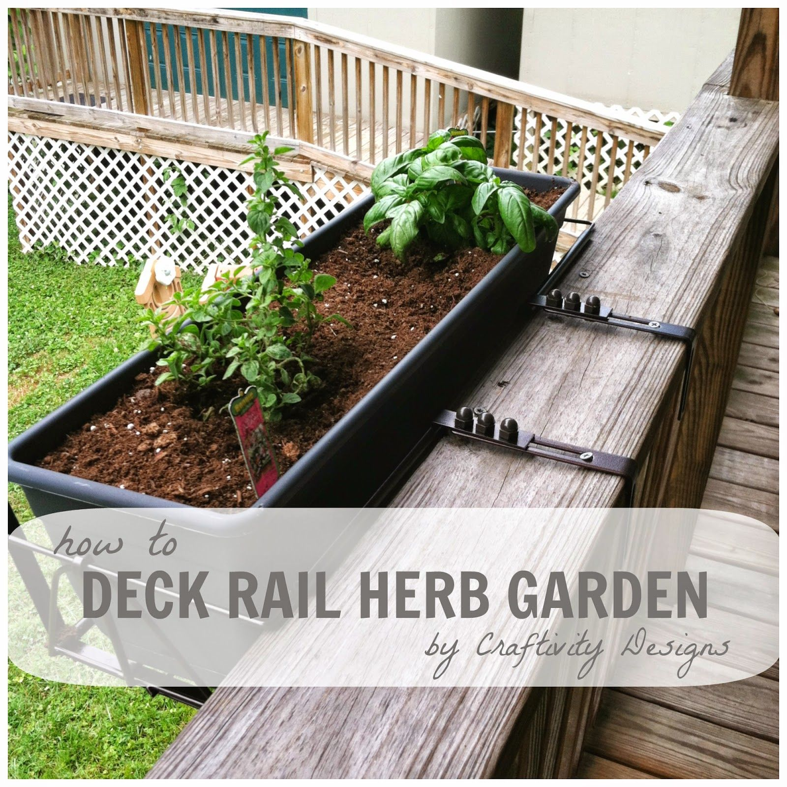 Deck Herb Garden Ideas