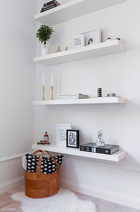 Floating Shelves Bedroom
