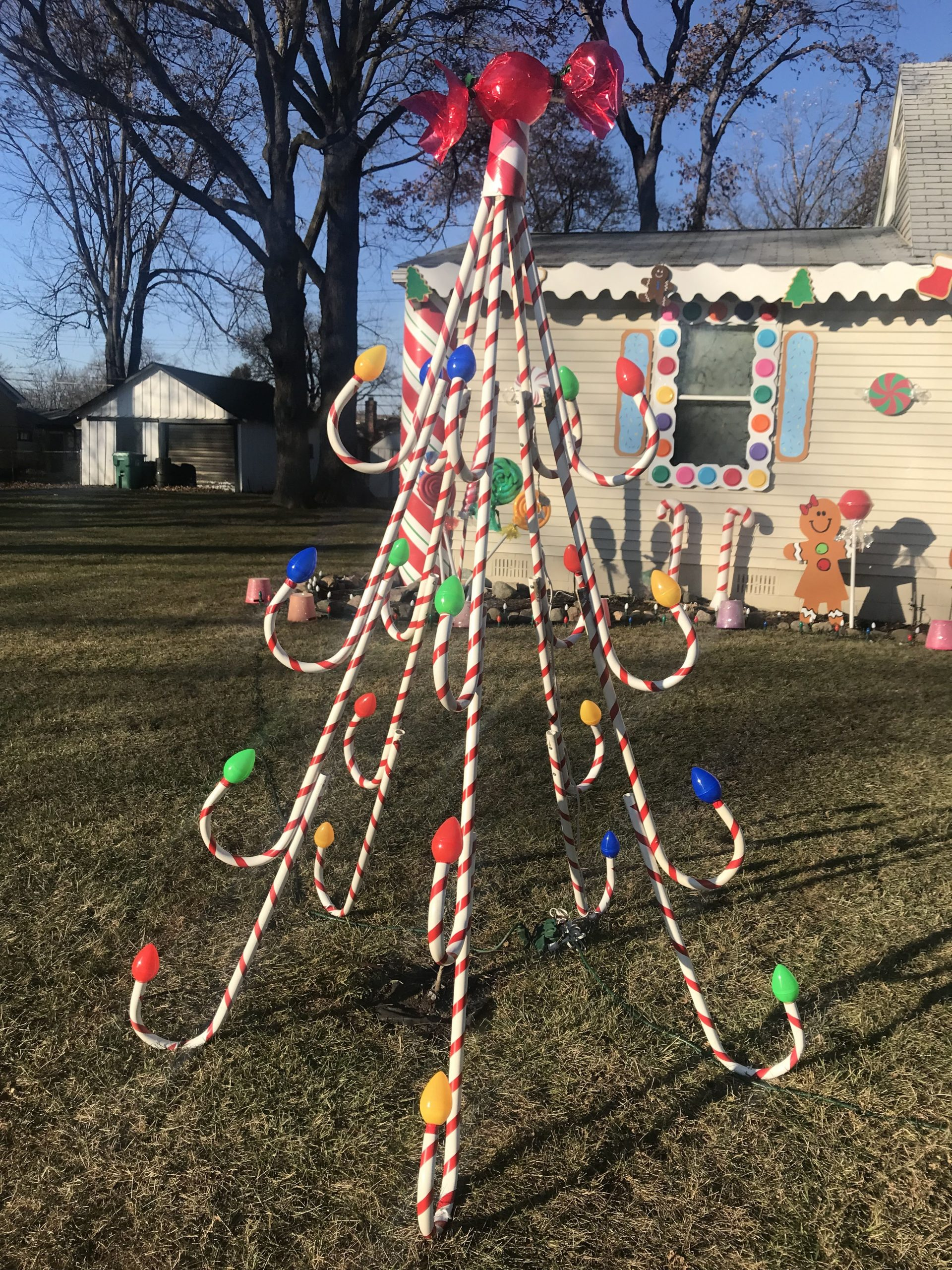 Outdoor Candy Cane Christmas Decorations