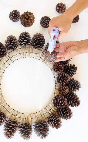 DIY Pine Cone Decorations