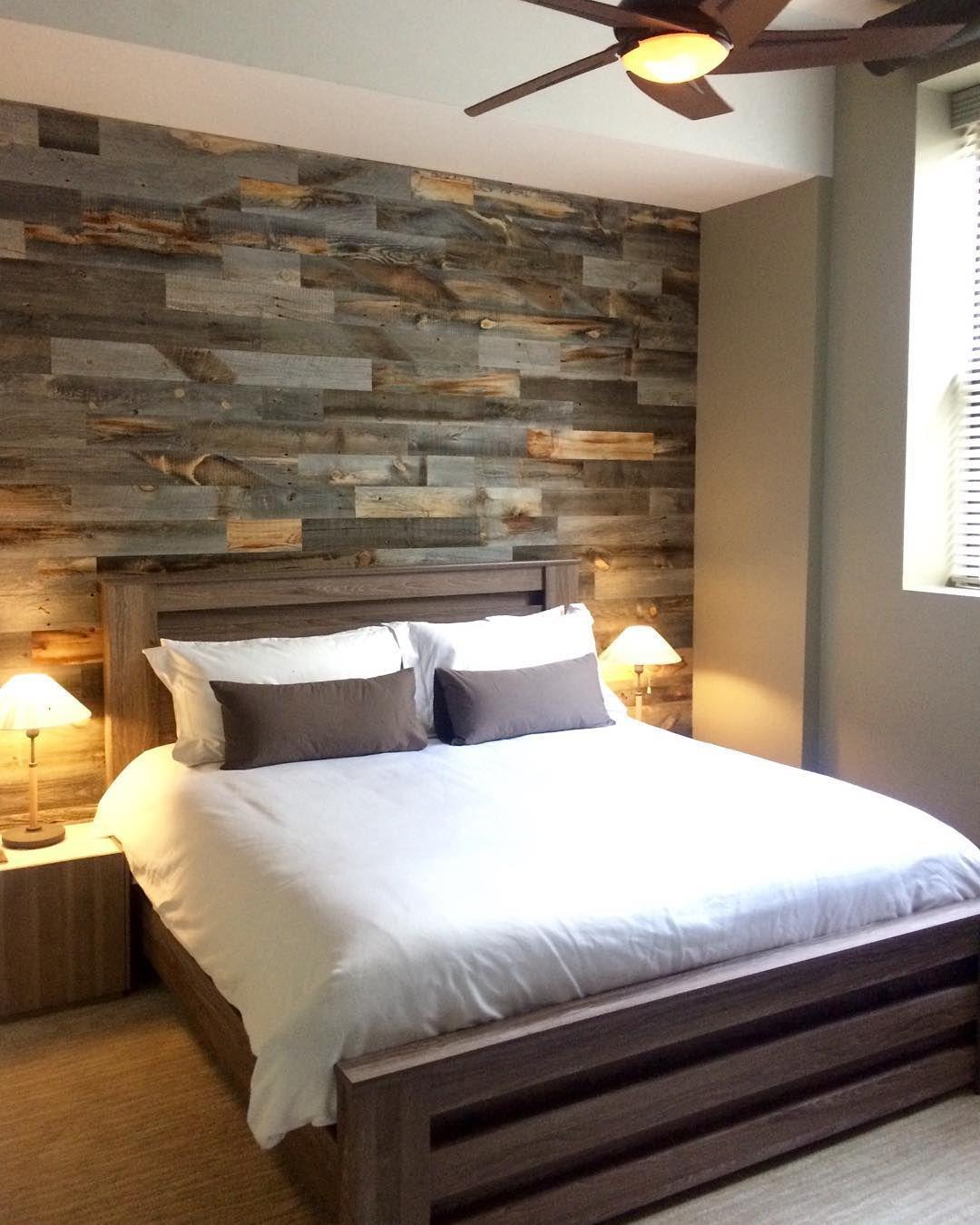 Wood Wall Bedroom