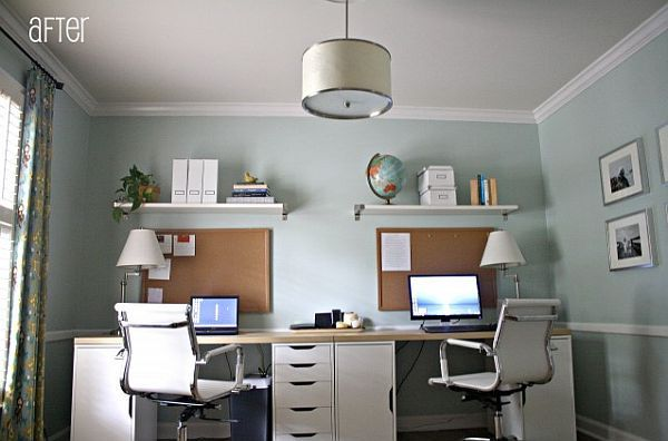 Dual Desk Home Office