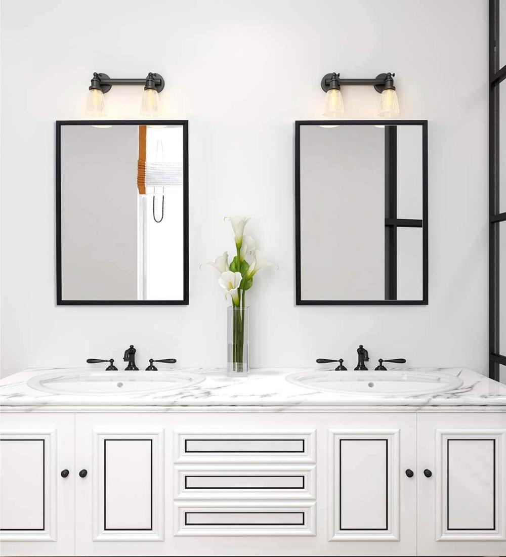 Black Framed Bathroom Mirror