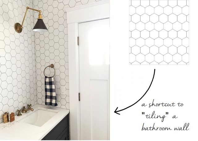Peel And Stick Wallpaper For Bathroom