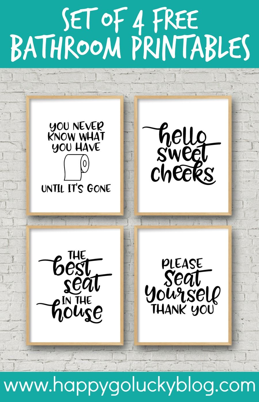 Printable Bathroom Signs