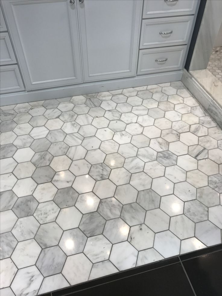 Hexagon Floor Tile Bathroom