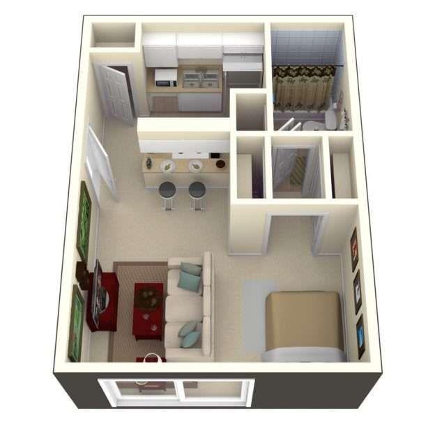 500 Sq Ft Apartment