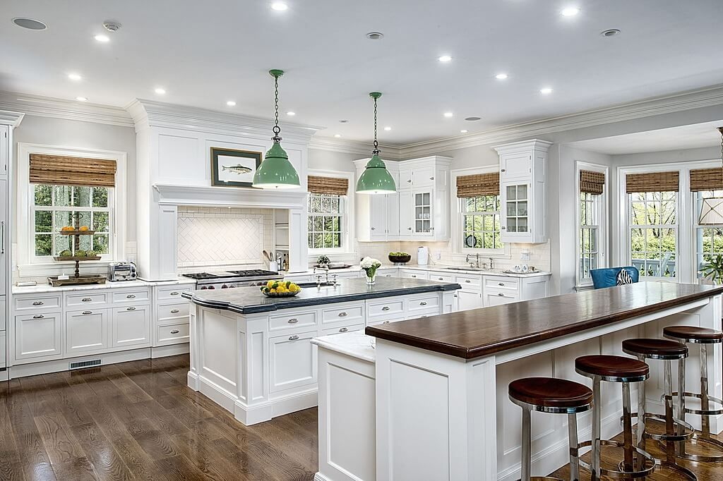 Kitchen With Two Islands