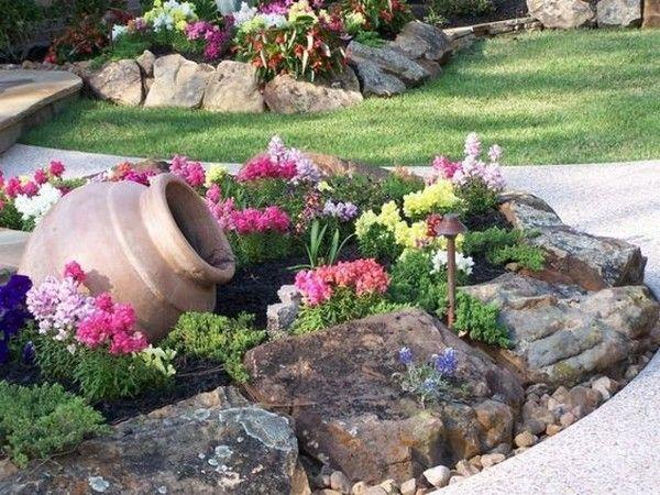 Flower Garden Ideas With Rocks