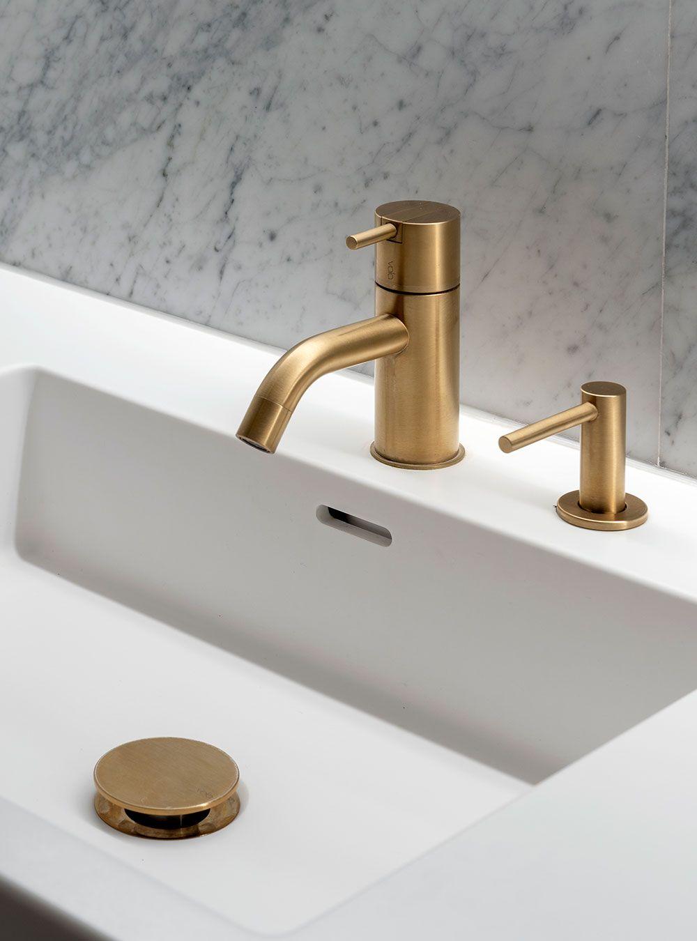 Brushed Gold Bathroom Faucet