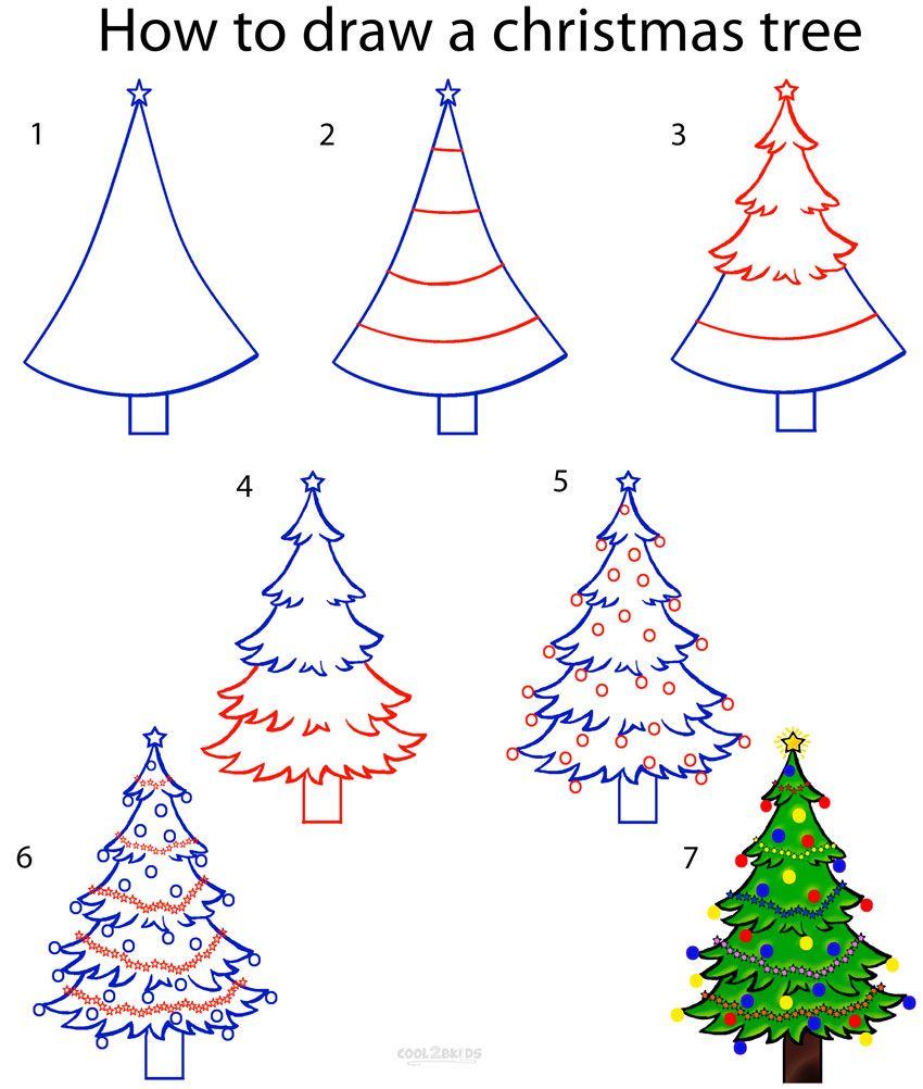 Christmas Tree Drawing Easy