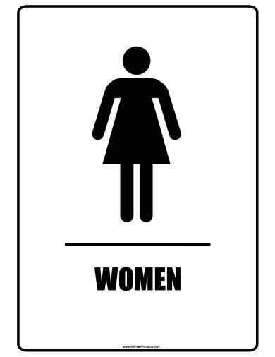 Womens Bathroom Sign