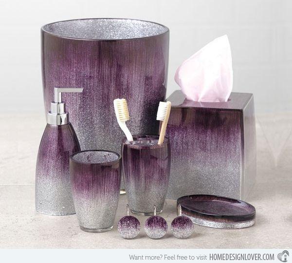 Purple Bathroom Set