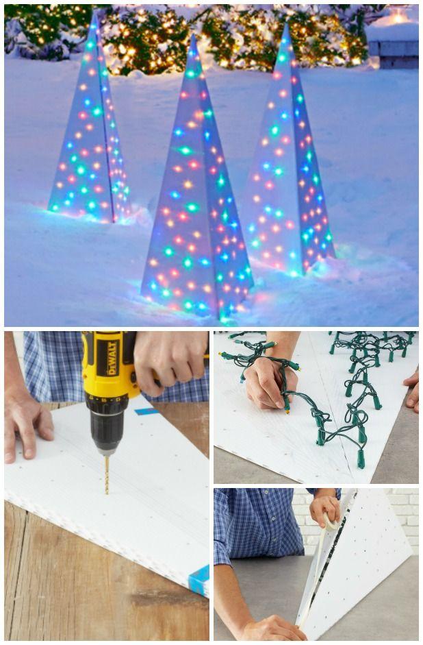 DIY Outdoor Christmas Light Decorations