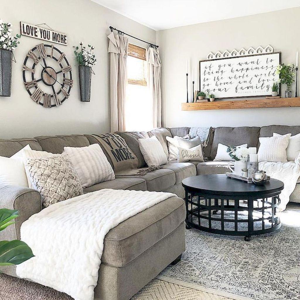 Grey Modern Farmhouse Living Room