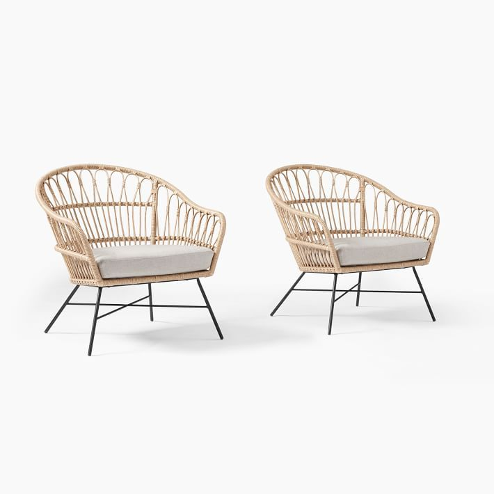 Outdoor Lounge Chairs Set Of 2