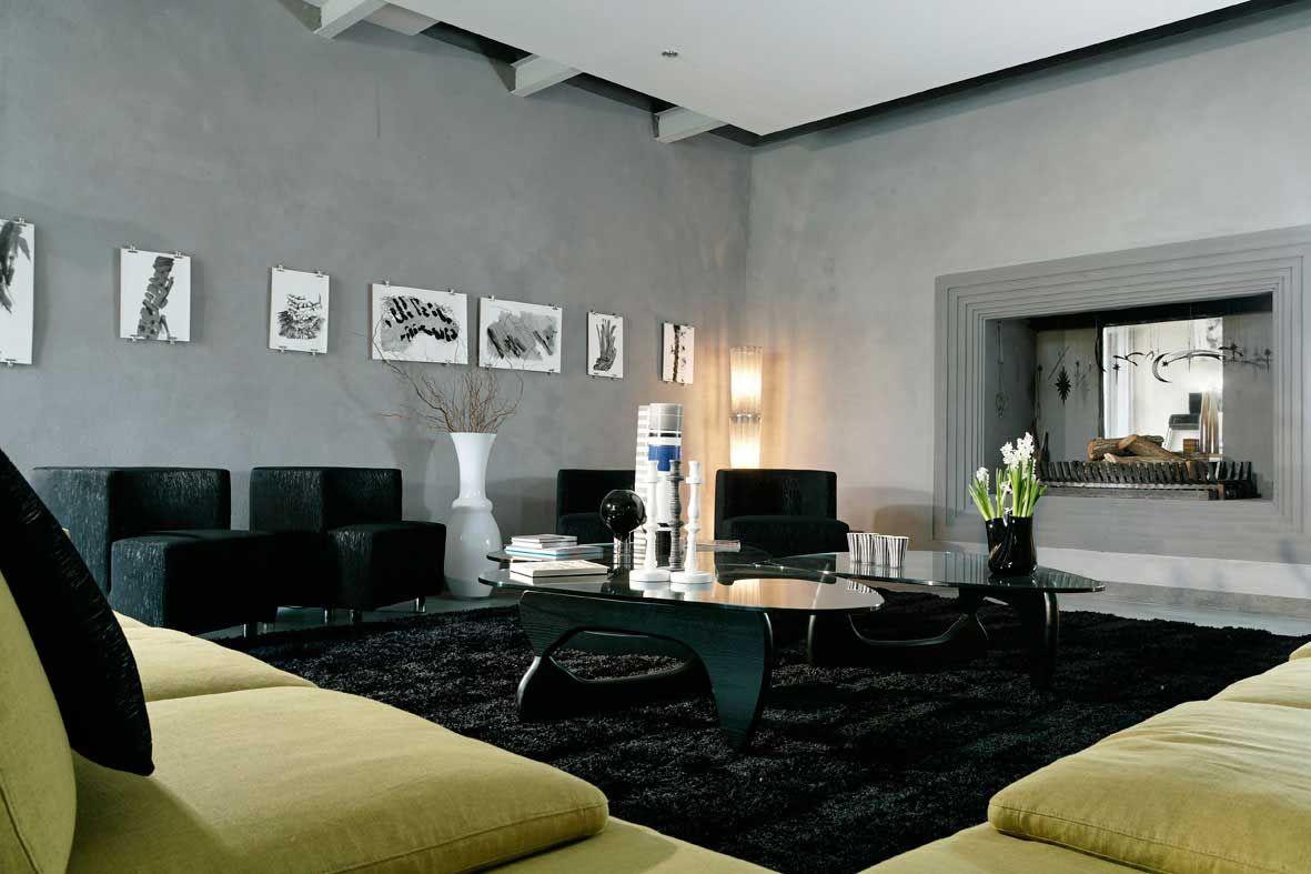 Black Living Room Rug